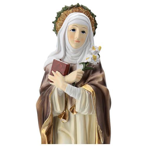 Santa Caterina de Siena estatua resina 30 cm 2
