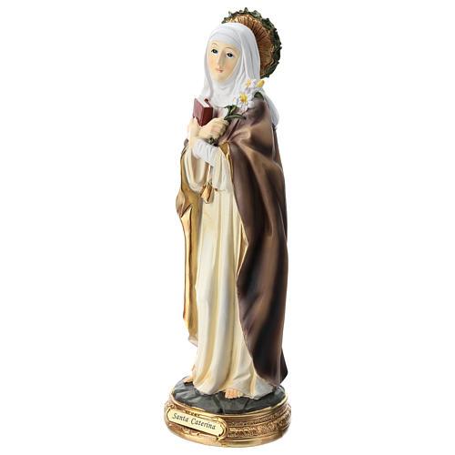 Santa Caterina de Siena estatua resina 30 cm 3