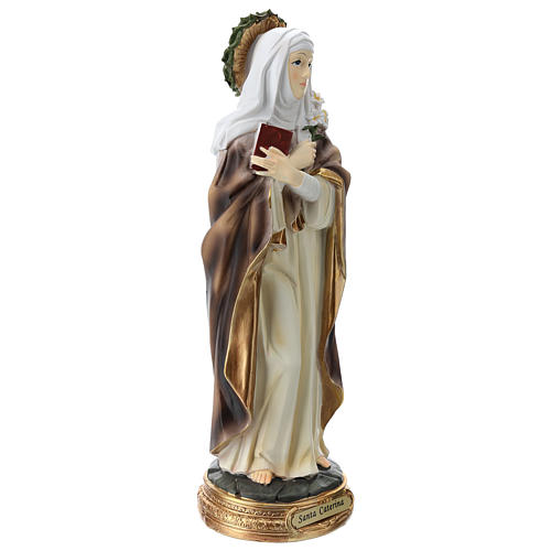 Santa Caterina de Siena estatua resina 30 cm 4