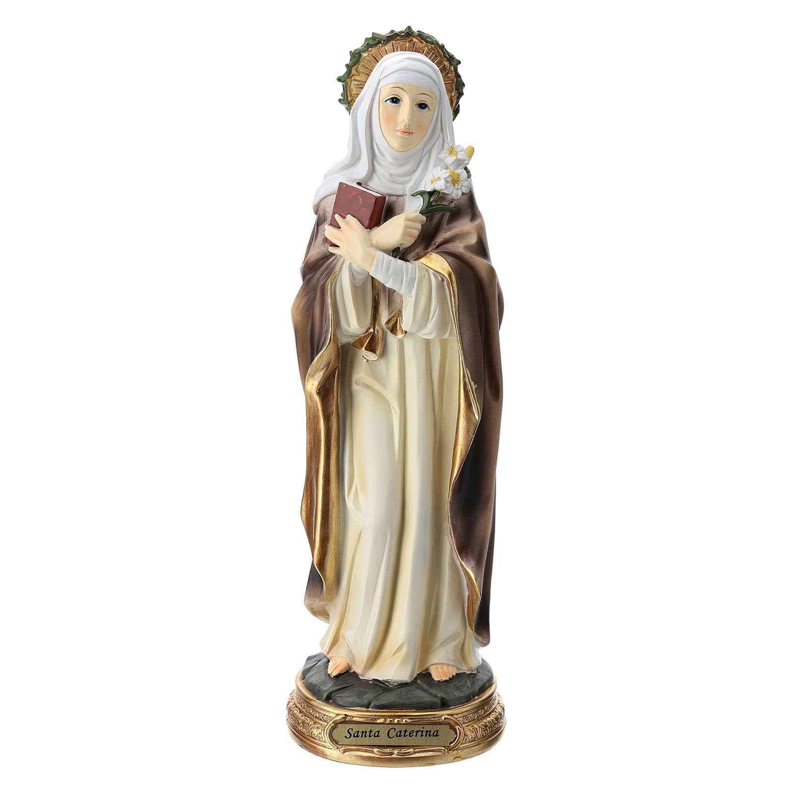 Santa Caterina da Siena statua resina 30 cm  4