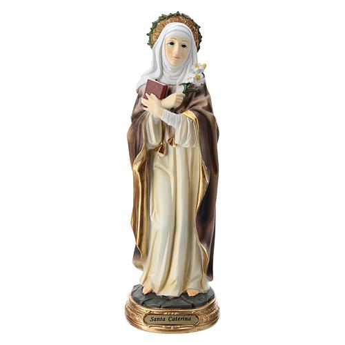 Santa Caterina da Siena statua resina 30 cm  1