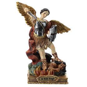 Saint Michel statue 15 cm en résine s1