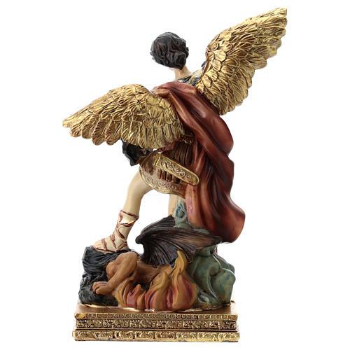 Saint Michel statue 15 cm en résine 5