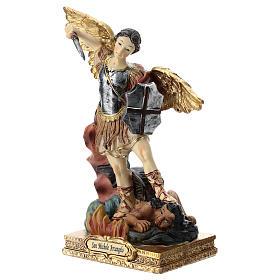 San Michele statua 15 cm in resina s3