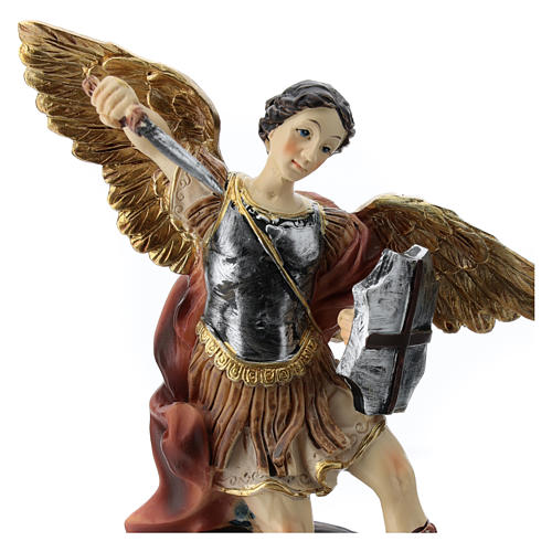 San Michele statua 15 cm in resina 2