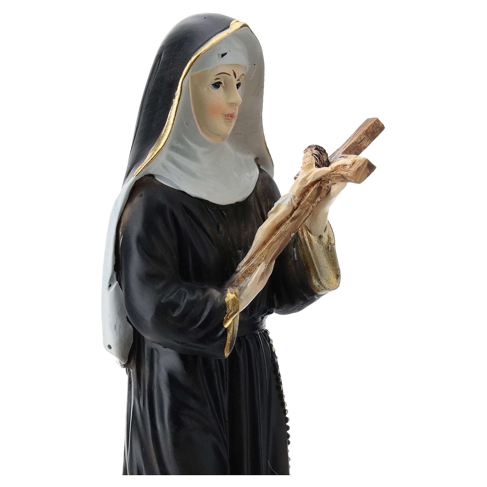 Estatua de resina de Santa Rita 20 cm resina 4