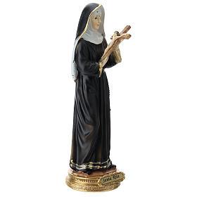 St Rita statue in resin 20 cm s4