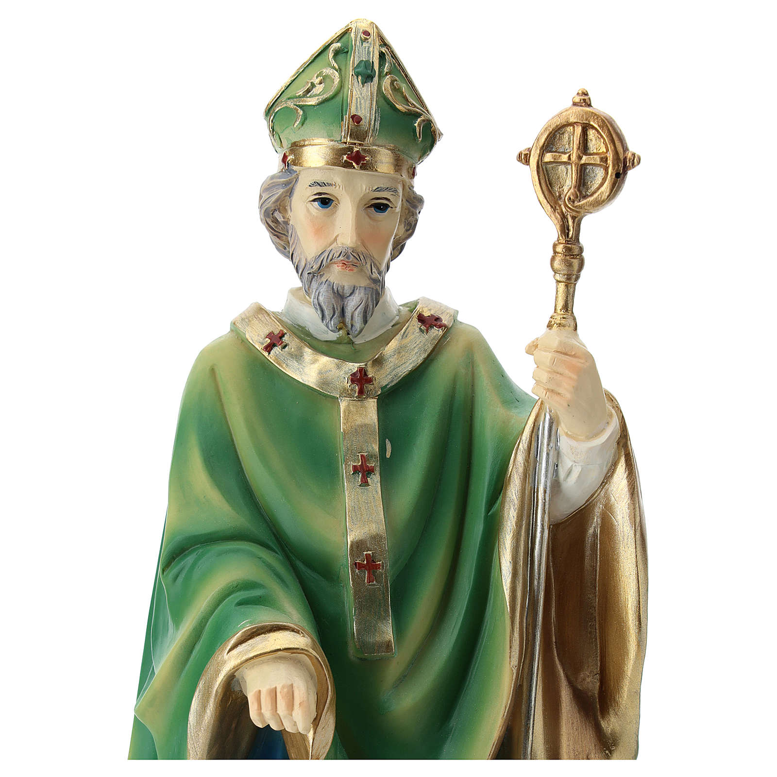 Statue St Patrick 30 cm résine colorée 4