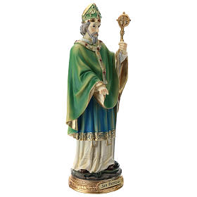 Statue St Patrick 30 cm résine colorée s4