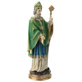 Statue St Patrick 30 cm résine colorée s9