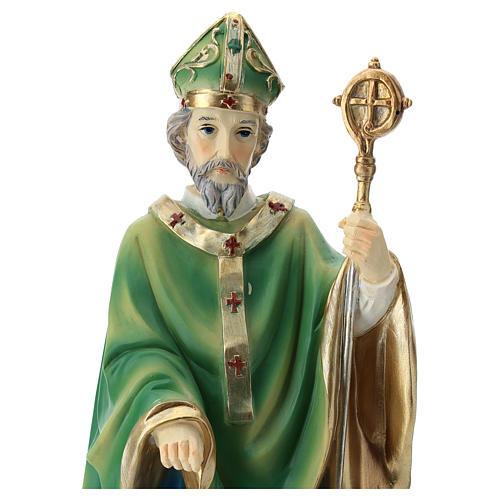 Statue St Patrick 30 cm résine colorée 7