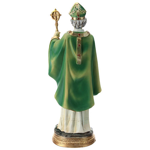 Statue St Patrick 30 cm résine colorée 10