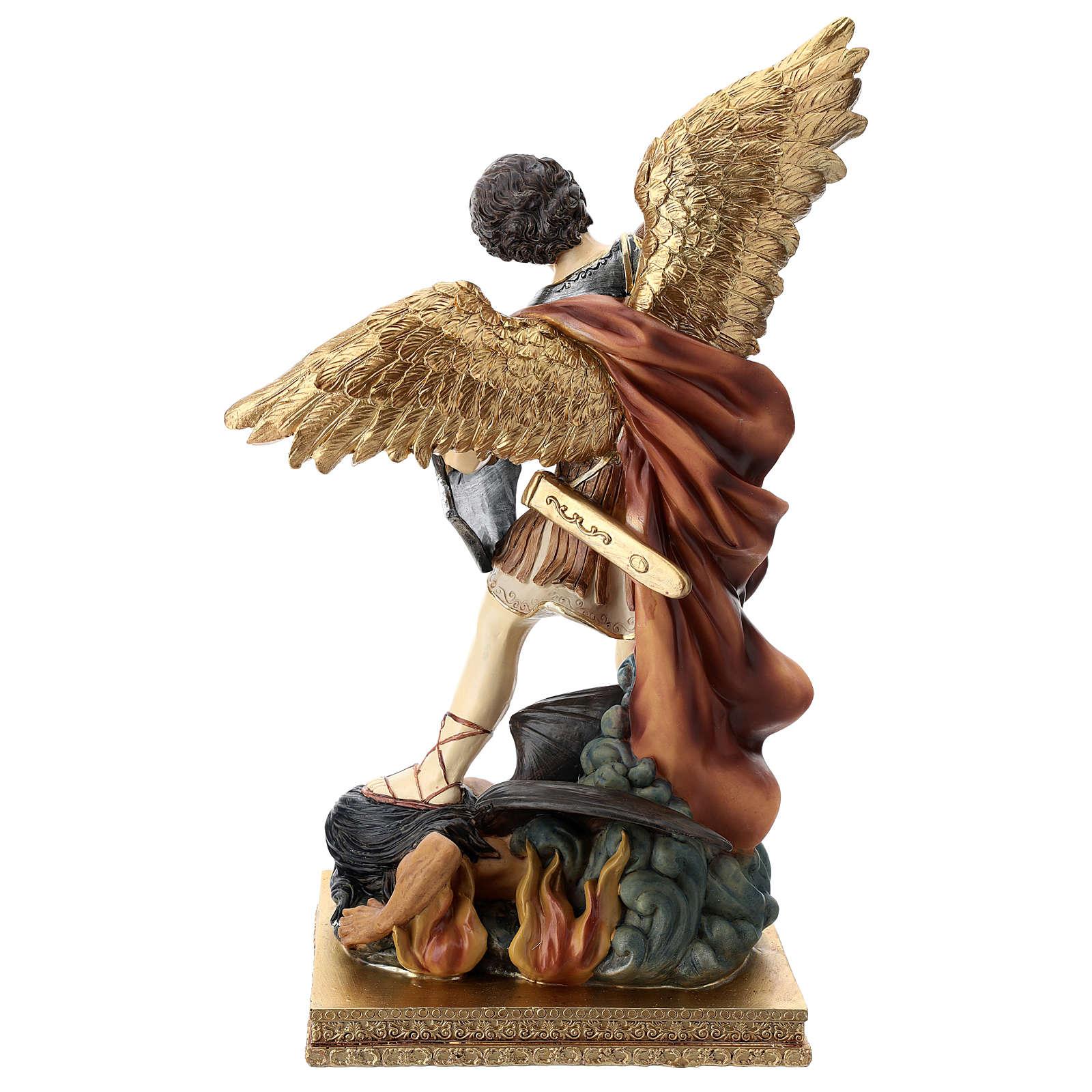 St. Michael 40 cm coloured resin 4