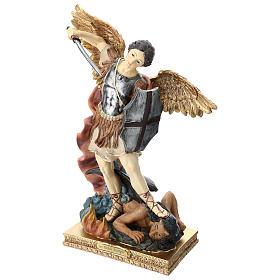 St. Michael 40 cm coloured resin s3