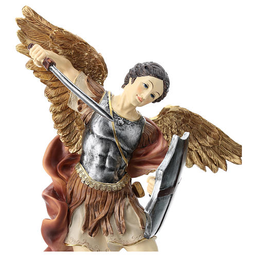 St. Michael 40 cm coloured resin 2