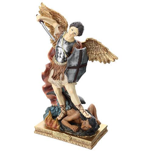 Saint Michel 40 cm résine colorée 3