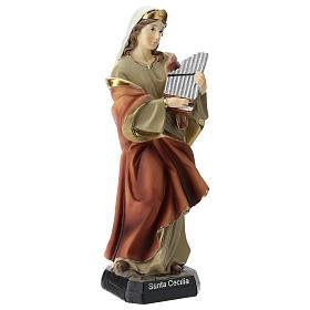 Statua Santa Cecilia in resina 20 cm s4