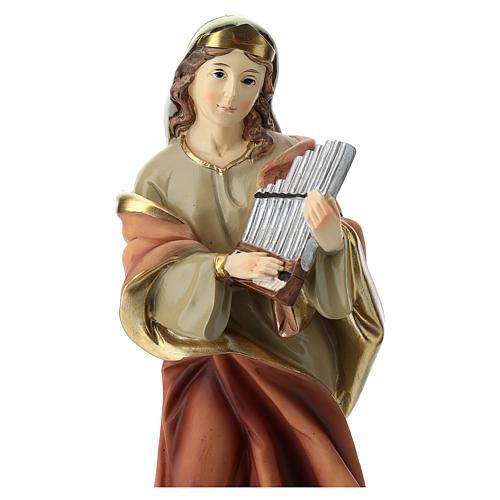 Statua Santa Cecilia in resina 20 cm 2