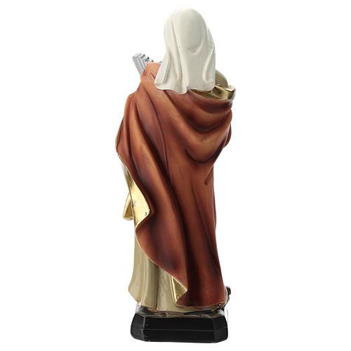 Statua Santa Cecilia in resina 20 cm 5