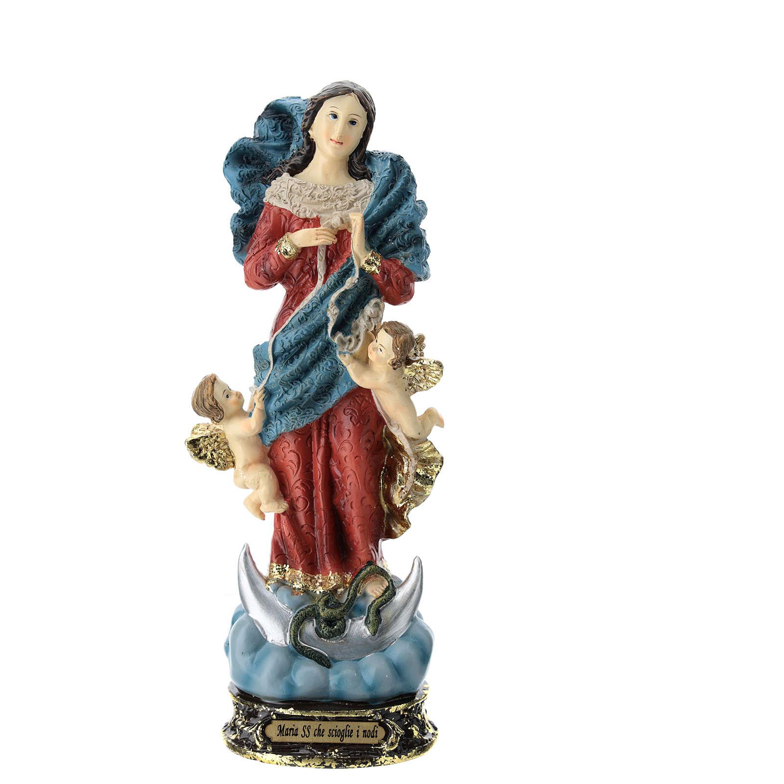 Estatua Virgen que desata los nudos resina 22 cm 4