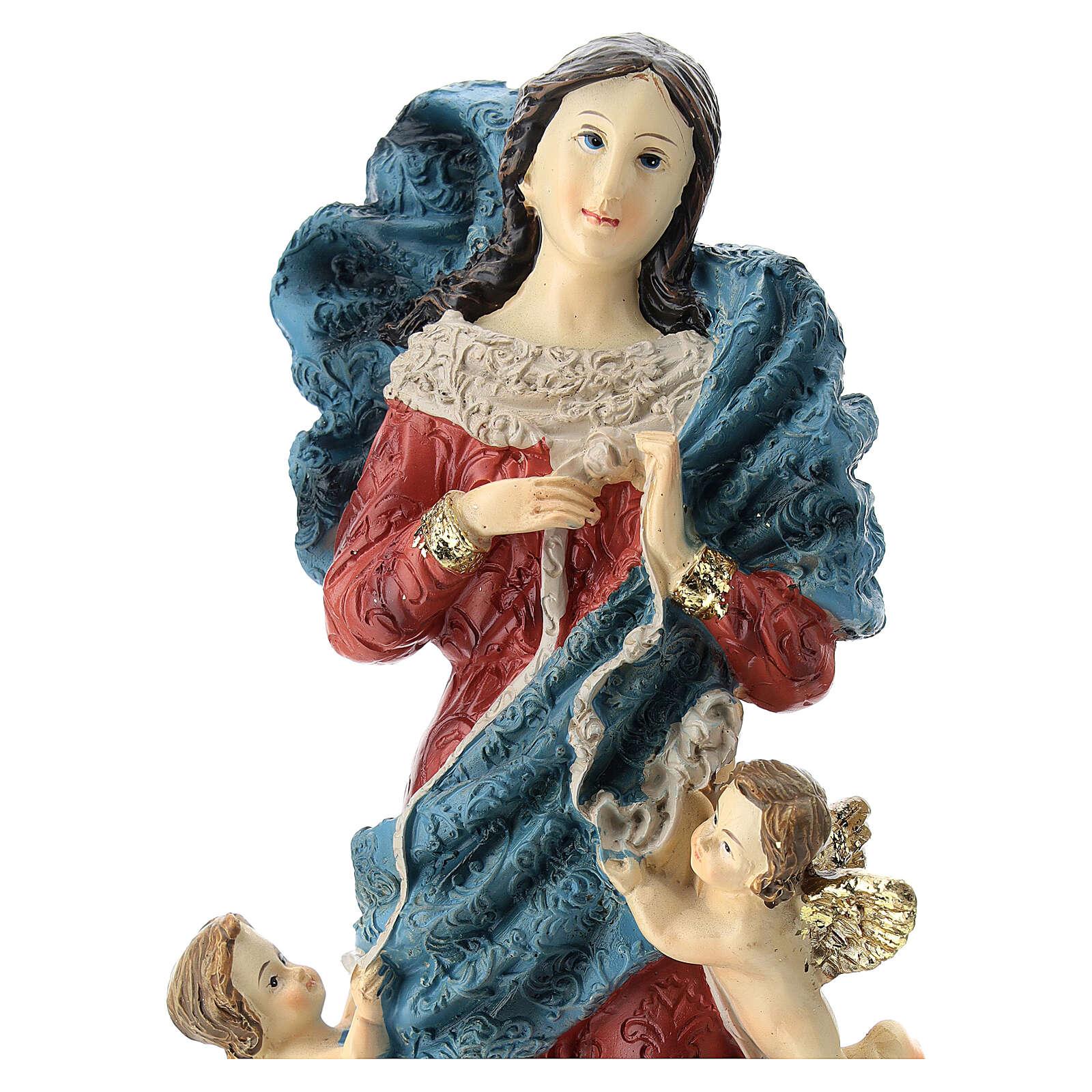 Statua Madonna che scioglie i nodi resina 22 cm 4