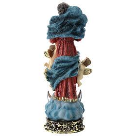 Statua Madonna che scioglie i nodi resina 22 cm s5