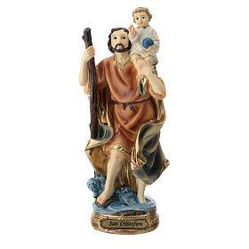 Estatua San Cristóbal resina 20 cm s1