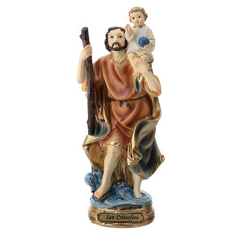 Statue Saint Christophe résine 20 cm 1