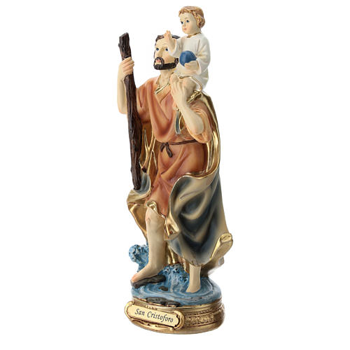 Statua San Cristoforo resina 20 cm 3