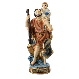 Resin & PVC statues: St. Christopher statue in resin 20 cm