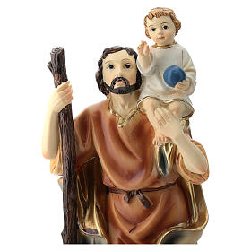 St. Christopher statue in resin 20 cm s2
