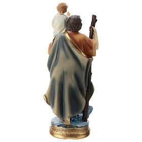 St. Christopher statue in resin 20 cm s5