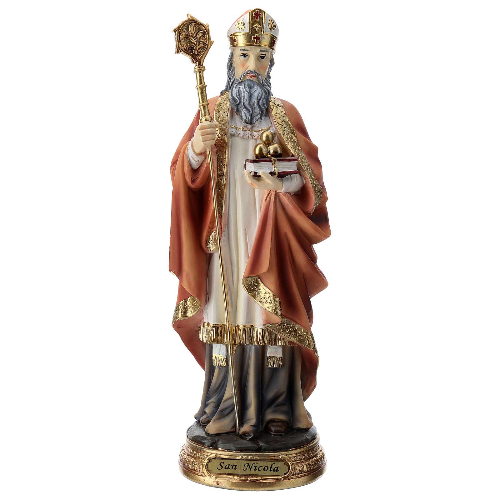 Estatua resina San Nicolás 30 cm 4