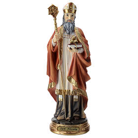 Statua resina San Nicola 30 cm s1