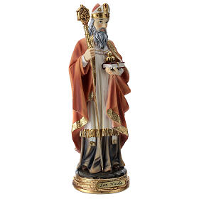 Statua resina San Nicola 30 cm s4