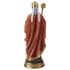 Statua resina San Nicola 30 cm s5