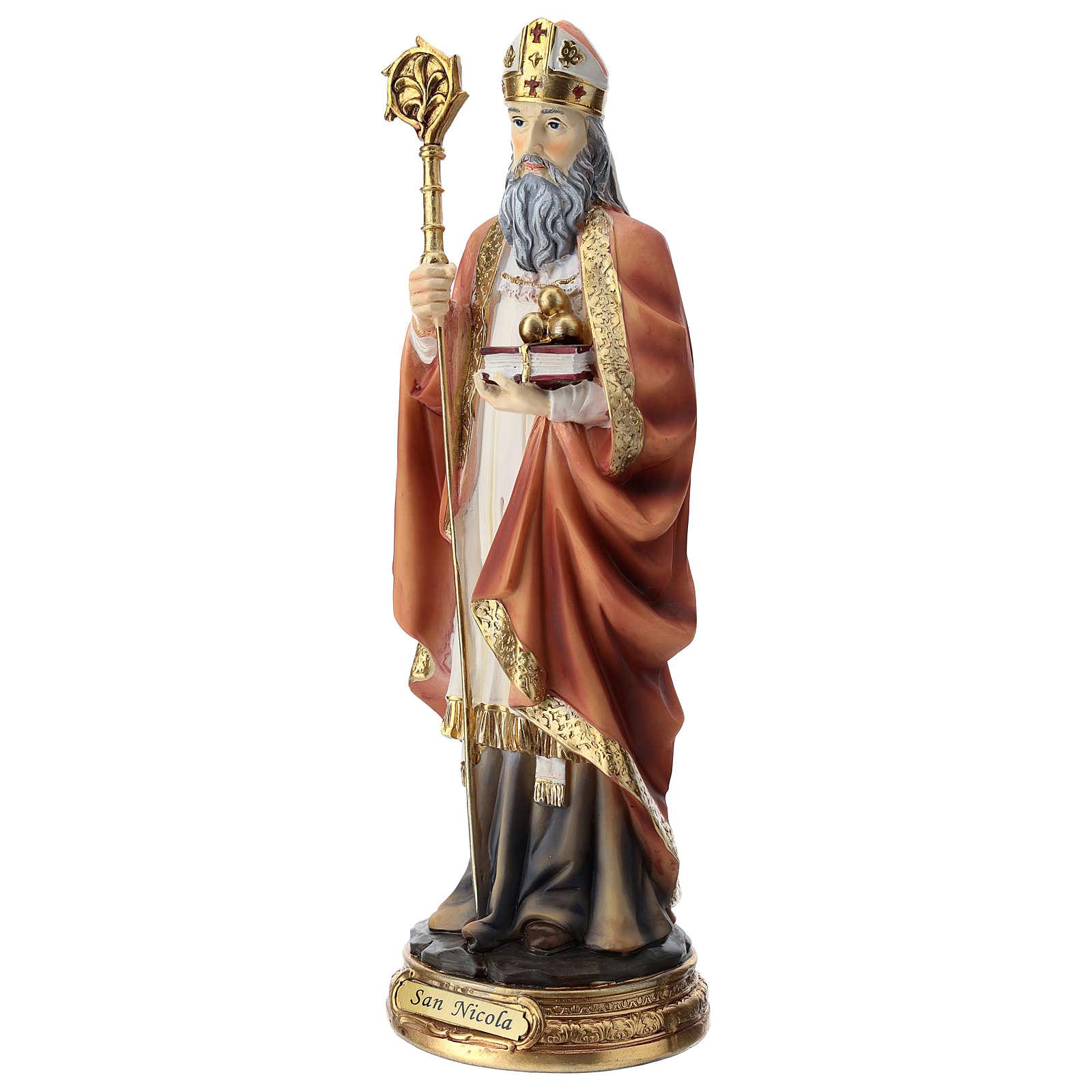 Saint Nicholas statue in resin 30 cm 4