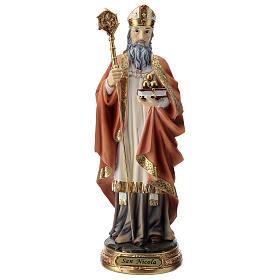 Saint Nicholas statue in resin 30 cm s1
