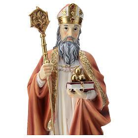 Saint Nicholas statue in resin 30 cm s2