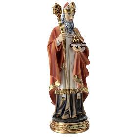 Saint Nicholas statue in resin 30 cm s4
