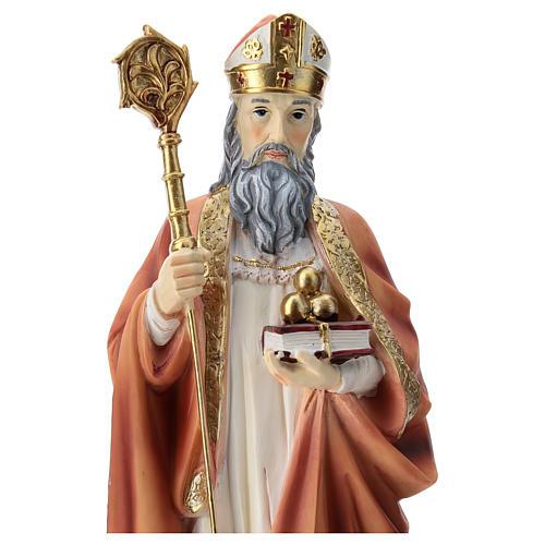 Saint Nicholas statue in resin 30 cm 2