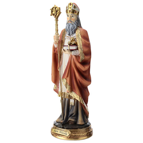 Saint Nicholas statue in resin 30 cm 3