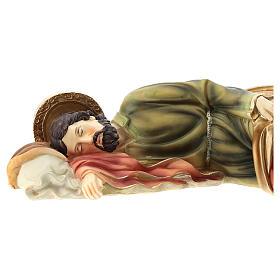 Statue Saint Joseph endormi 39 cm résine s2