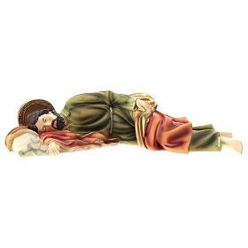 Statua San Giuseppe Dormiente 39 cm resina s1