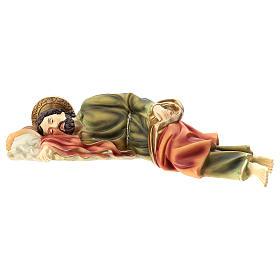 Statua San Giuseppe Dormiente 39 cm resina s3