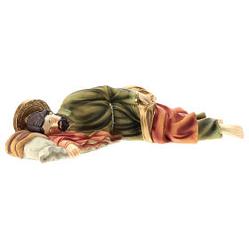 Statua San Giuseppe Dormiente 39 cm resina s4