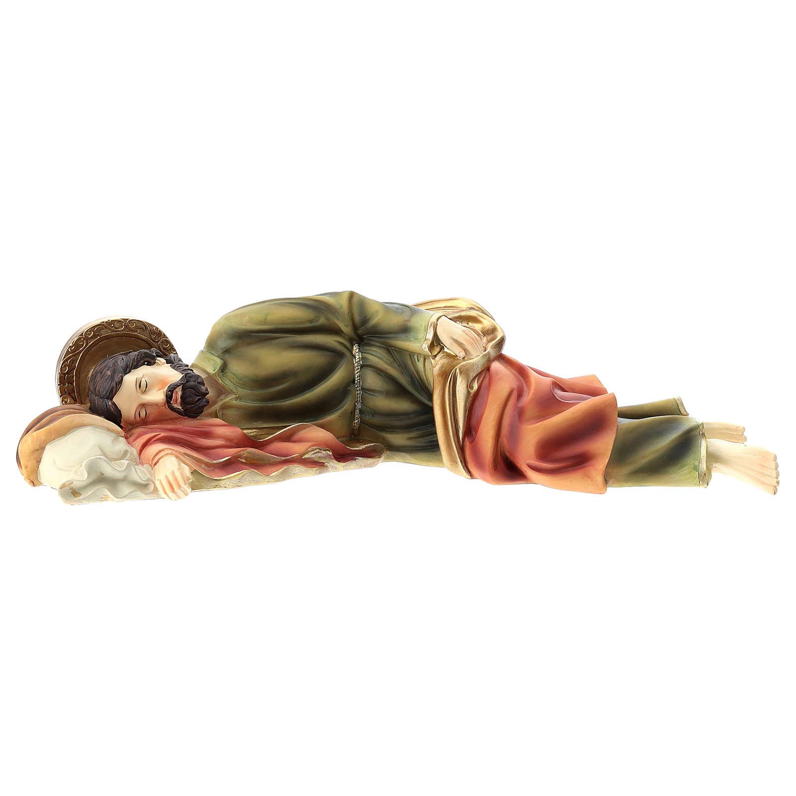 Sleeping Saint Joseph statue in resin 39 cm 4