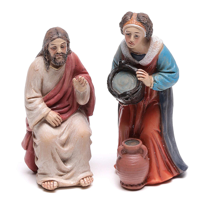 Escena pasión Cristo Jesús y la Samaritana cerca del pozo de Jacob 9 cm 4
