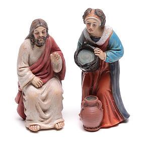 Escena pasión Cristo Jesús y la Samaritana cerca del pozo de Jacob 9 cm s2