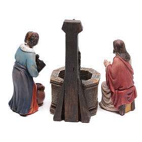 Scena passione Cristo Gesù e la Samaritana al pozzo di Giacobbe 9 cm s4